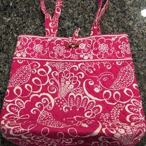 Hot pink Vera Bradley Tote bag